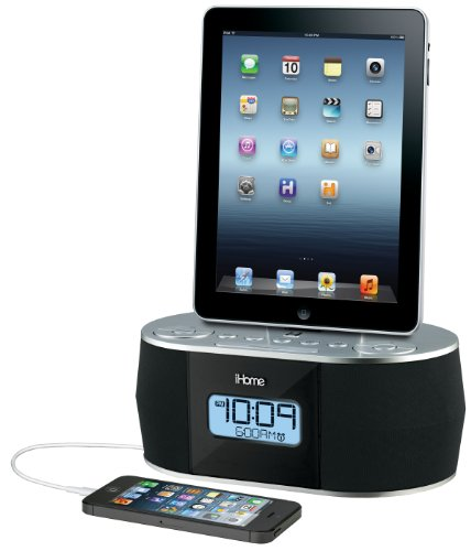 Ihome Dual Charging Stereo Fm Clock Radio With Usb Charge For Ipod/Iphone/Ipad