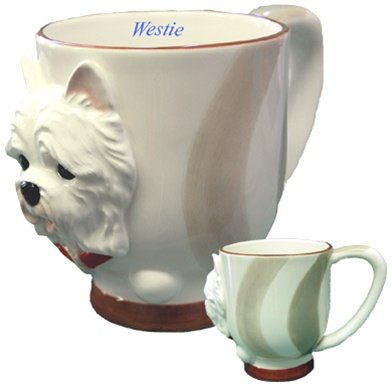 West Highland Terrier Collectible Westie Dog Puppy Porcelain Mug Cup