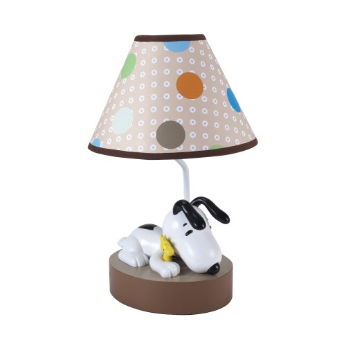 Lambs & Ivy Bff Lamp With Shade, Snoopy front-274969