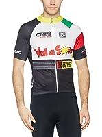 Santini Maillot Ciclismo (Negro / Multicolor)