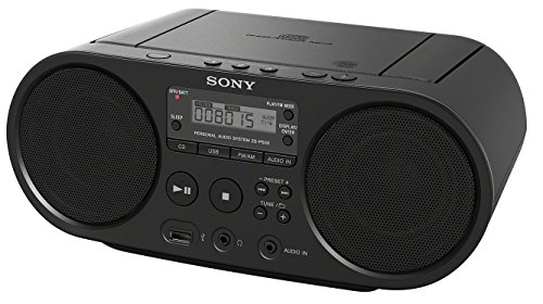 Sony ZS-PS50 Black Portable CD Boombox Player Digital Tuner AM/FM Radio USB playback and audio Input Mega Bass Reflex Stereo Sound System [+Peso($49.00 c/100gr)] (US.AZ.89.99-0-B07G29JQ81.27054)