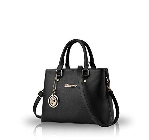Nicole&Doris Borsa casuale delle donne borse diagonale 2016 borse tendenza della borsa di spalla di modo(Black)