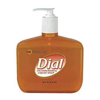 Dial Professional 80790 Liquid Dial Gold Antimicrobial Soap Pump 16 Oz. (Case of 12)