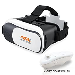 [NEW UPDATED] AllSmartLife® Gear VR BOX 2.0 Virtual Reality Glasses, 2016 3D VR Headsets for 4.7~6 Inch Screen Phones iphone 4S, iphone 5s Samsung LG Sony HTC, Nexus 6 etc.