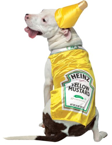 Medium - Cat & Dog Costume Heinz Mustard Medium