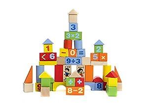 52er pack Arabischen Ziffern Spielzeug Bausteine Puzzle Early Learning Spielzeug Kreative Geburtstagsgeschenk Holz Bildungs-Spielzeug f¨¹r Kinder Weihnachten Spielzeug