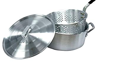 "Cookware & Kitchen Tools Smart Cook Aluminum 10 Quart 12"" Outdoor Deep Fryer Pot Basket and Lid NEW!"