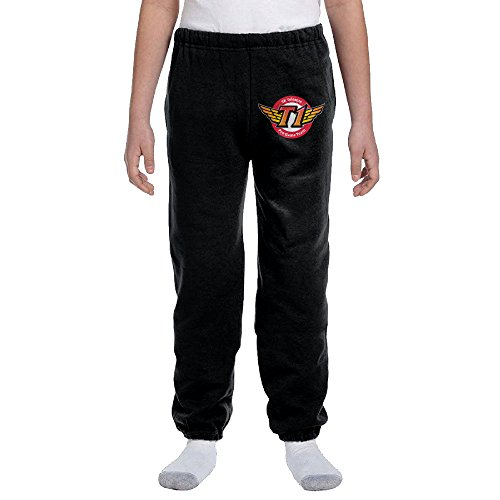 yianen-younths-unisexskt-sk-telecom-t1-closed-bottom-light-weight-jersey-sweatpant