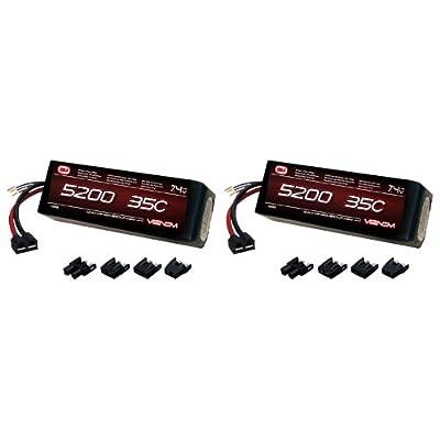 Venom 35C 2S 5200mAh 7.4V LiPo Battery with Universal Plug (EC3/Deans/Traxxas/Tamiya) x2 Packs