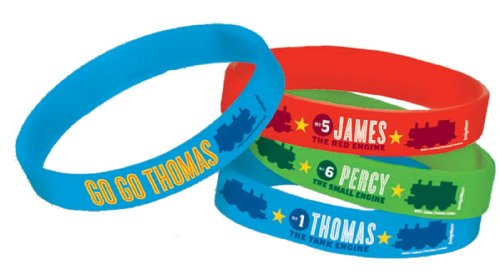 Thomas the Tank 4-Pack Rubber Bracelets Party Accessory