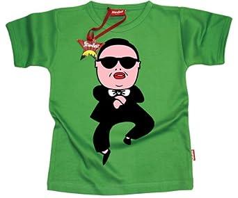 Stardust Baby Boys Girls Kids Teenager GANGNAM STYLE T-Shirt (Green) (6 - 12 Mths)