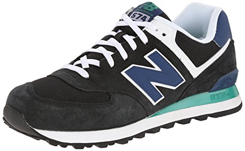 New Balance ML574 D Herren Sneakers, Schwarz (MON BLACK/BLUE), 39.5