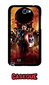 Caseque Captain America The First Avengers Back Shell Case Cover For Samsung Galaxy Note 2