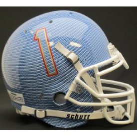 NCAA Tulsa Golden Hurricane Authentic XP Football Helmet, Carbon Fiber by Schutt