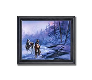 Art Prints Inc Native American Indian Horse Shadow Of The Forest Home Decor Wall Picture Framed Art Print