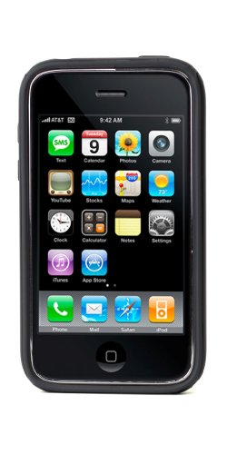 Speck Products CandyShell Case for iPhone 3G, 3G S (Black/Gray)