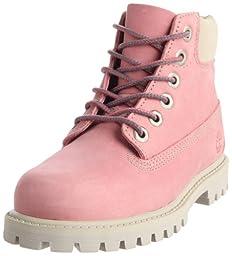 Timberland 6-Inch Premium Waterproof Boot (Toddler/Little Kid/Big Kid),Pink/Rose,4 W US Toddler