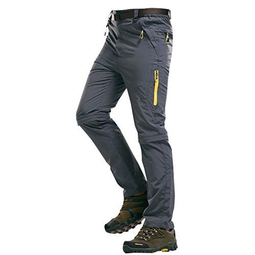 walk-leader da uomo Mountain Outdoor Arrampicata Trekking Asciugatura Rapida Pantaloni convertibili Grey Small