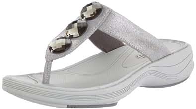 Clarks Walk Dazzle 20350125, Damen Clogs & Pantoletten, Silber (Silver Leather), EU 36 (UK 3.5)