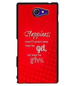 Fuson 2D Printed Quotes Designer back case cover for Sony Xperia M2 - D4541