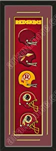 Heritage Banner Of Washington Redskins With Team Color Double Matting-Framed Awesome... by Art and More, Davenport, IA