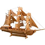 3-D Wooden Puzzle - European Sail Boat Model -Affordable Gift for your Little One! Item #DCHI-WPZ-P049