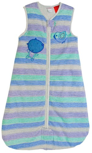 Plum Collections Baby Lightly Padded 2.5 Tog Sleeping Bag Stripes Fits 5 Point Travel Harness (18-36 Months)