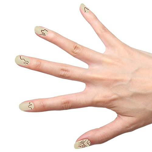 Tattify Autocollants Pour Ongles Minimal - Biscuits (Set de 22)