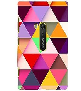 PrintVisa NOK920-Corporate Print & Pattern Modern Art Colorful Back Cover (Multicolor)