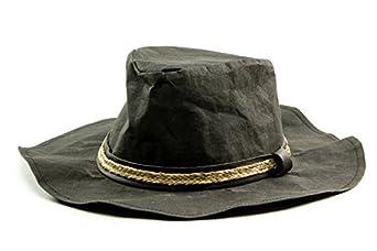 Gi n Gi Men's Paper Hat in Black Size Large