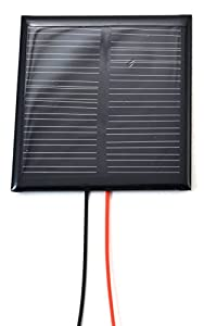 Small Solar Panel 12.0V 45mA with wires