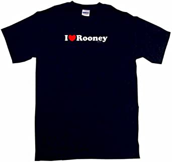 I Heart Love Rooney Men's Tee Shirt Small-Black