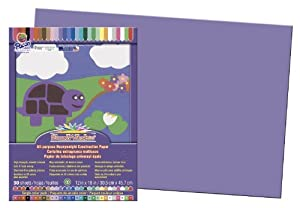 "SunWorks Construction Paper, 12""X18"", Violet, 50 Sheets"