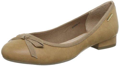ESPRIT Renita Bow Ballerina Q10309, Ballerine donna, Beige (Beige (wet sand 287)), 40