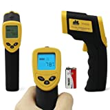 Etekcity® Non-contact IR(Infrared) Thermometer 8550(-58 to 1022°F) Instant-read Temperature Gun LCD screen with backlight & carrying case with belt loop; Battery included