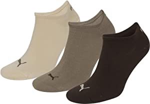 Puma Sneaker Socken 3Paar Unisex Invisible 251025 Gr. 43-46 choclate