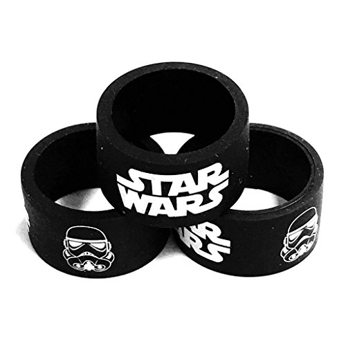 Silicone Superhero Vape Bands Tank Band Bumper Ring STAR WARS STORMTROOPER (STAR WARS (3-PACK)) (War Ring compare prices)