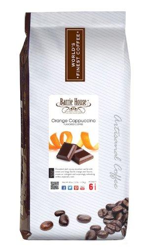Barrie House Orange Cappuccino Coffee, Whole Bean 40 oz. (2.5 lb.) Bag