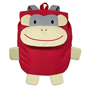 Geen Sprouts Safari Friends Backpack Red Monkey