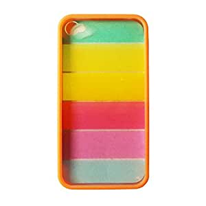 Rainbow Colors Hard Back Case Cover For Apple Iphone 4G/4S