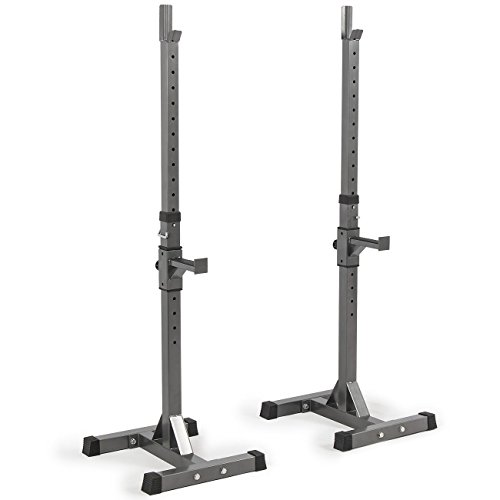 Akonza 2PCS Adjustable Rack Solid Steel Standard Squat Barball Free Press Bench Equipment Training Cross Fit (Bench Press Safety Rack compare prices)