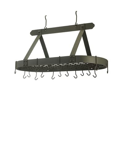 Old Dutch International 16-Hook Oval Pot Rack with Grid  [Graphite]