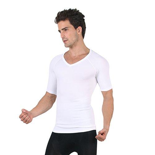 f5ae36d03 H:oter Mens Nylon Compression V-Neck T-shirt - Import It All
