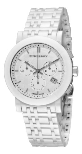 Burberry Women's BU1770 Ceramic White Chronograph Dial Watch