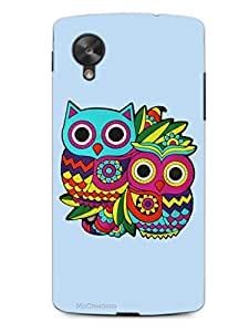 MiiCreations 3D Printed Back Cover for LG Google Nexus 5,Owl Pattern