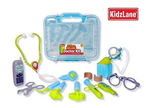 Durable Kids Doctor Kit With Electronic Stethoscope And 12 Medical Doctor'S Equipment, Packed In A Sturdy Gift Case back-800907