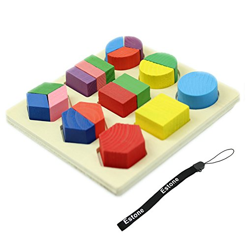 Estone® Baby Kids Wooden Learning Educational Toy Geometry Block Puzzle Montessori Early [Pattern3]