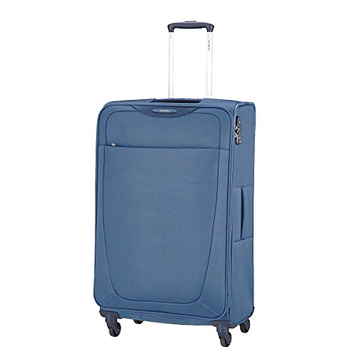 Samsonite Base Hits Spinner 77/28 Valigia Espandibile, Poliestere, Steel Blue, 104 ml, 77 cm