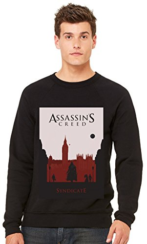 Assassin's Creed Syndicate Game-Felpa a girocollo, Unisex nero XXL