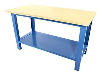 Banco da lavoro con piano in legno 1500x750x880 serie industria sogi